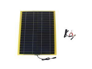 20W 18V 1.2A Flexible Solar Panel Power Bank For 12V Car Battery Charger