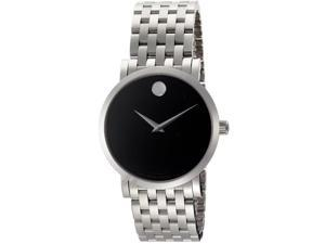 Movado Men's Red Label Automatic Black Dial Stainless Steel
