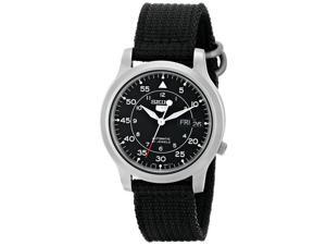 Seiko Men's SNK809 Seiko 5 Automatic Stainless Steel Watch with Black Canvas Band