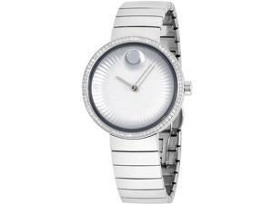 Movado 3680033 Edge Stainless Steel Silver Dial Ladies Watch