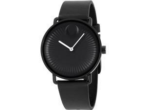 Movado 3680039 Movado Edge Leather Mens Watch, Black