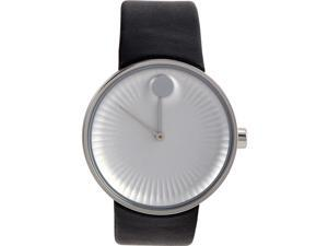 MOVADO MEN'S 40MM BLACK LEATHER BAND STEEL CASE QUARTZ ANALOG WATCH 3680001