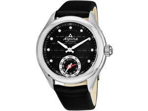 Alpina Women's Alpiner 39mm Black Leather Band Swiss Quartz Watch AL-285BTD3C6