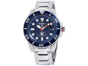 Seiko Solar Mens Prospex Diver Stainless Steel Blue Dial Watch SNE435