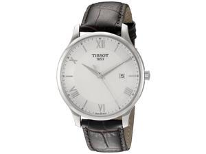Tissot Men's T-Classic T063.610.16.038.00 Brown Leather Swiss Quartz Watch