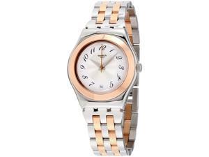 Swatch Unisex Irony 33mm Two Tone Steel Bracelet Quartz Analog Watch YLS454G