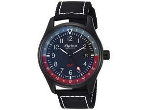 Alpina Men's Startimer Pilot 42mm Nylon Band Swiss Quartz Watch AL-247BR4FBS6