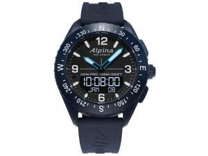 Alpina Men's 45mm Rubber Band Steel Case Swiss Quartz Watch AL-283LBN5NAQ6