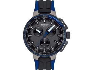 Tissot Men's T-Sport 44.5mm Black Silicone Band Quartz Watch T1114173744106