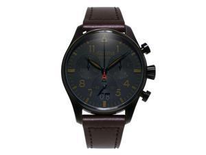 Alpina Men's 44mm Leather Band Steel Case Swiss Quartz Watch AL-372BBG4FBS6