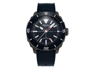 Alpina Men's Seastrong Diver GMT 44mm Blue Swiss Quartz Watch AL-247LNN4TV6