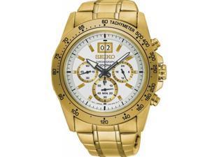 Seiko Men's Lord 43.3mm Gold-Tone Steel Bracelet & Case Quartz Watch SPC244P1
