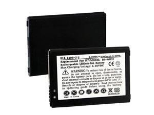 LG Phoenix 2 Cell Phone Battery (Li-Ion 3.8V 2200mAh) - Replacement For LG BL-46ZH Cellular Battery