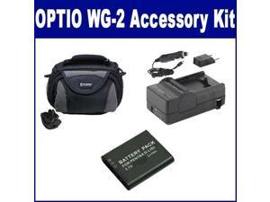 Pentax Optio WG-2 Digital Camera Accessory Kit includes: SDDLi92 Battery SDC-26 Case ZELCKSG Care /& Cleaning KSD2GB Memory Card SDM-192 Charger