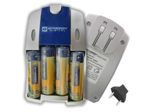 """""""Sony DSC-W7 Digital Camera Charger Replacement for 4 AA NiMH 2800mAh Rechargeable Batteries, with Charger"""""""