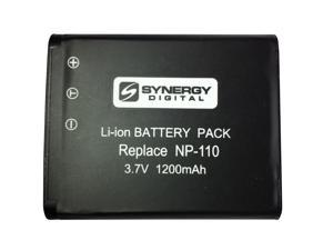 """""""SDNP110 Lithium-Ion Rechargeable Battery - Ultra High Capacity (3.7V 1200 mAh) - Replacement for Casio NP-110 Battery - For Casio Exilim EX-Z2000, Exilim EX-Z2300, Exilim EX-ZR10"""""""