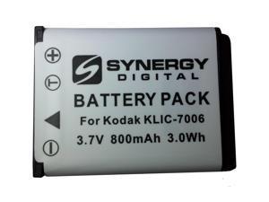 """SDKLIC7006 Lithium-Ion Battery - Rechargeable Ultra High Capacity (3.7V 800 mAh) - Replacement for Kodak KLIC-7006 Battery  For Kodak EasyShare Mini M200, EasyShare M522, M530, M532, M550, M575, M577"