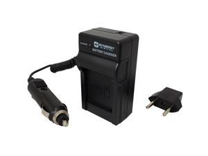 Olympus FE-370 Digital Camera Charger (110/220v with Car & EU adapters) - Replacement Charger for Olympus LI-60B Battery