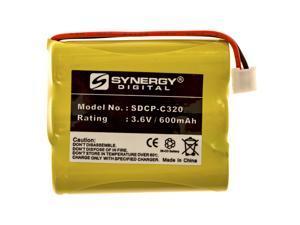 GE 27938GE6-C Cordless Phone Battery NI-CD, 3.6 Volt, 600 mAh, Ultra Hi-Capacity Battery - Replacement Battery for GE Rechargeable Cordless Phone Batteries