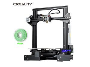 Creality Ender-3 Pro 3D Printer Upgraded DIY MeanWell Power + Green Filament US
