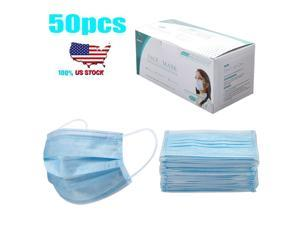 50pcs/pack Disposable Face Mask Anti-Dust Proof Respirator 3-ply Face Mask Cover Non-woven Mouth Mask