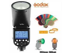 GODOX NEW V1-C Flash 2.4G TTL 1/8000S High Speed 2600mAh Li-ion Battery Round Head Camera Flash Light for Canon Cameras