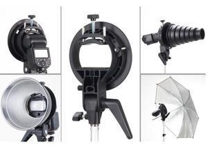 Godox S-Type Bracket Bowens S Mount Holder Fit Speedlite Flash Umbrella Softbox