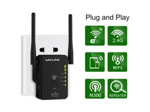 Wavlink 300mbps Universal WiFi Range Booster,Wireless Signal Repeater/Access Point/Router with WPS Function, 2.4GHz Ethernet 300Mbps Network Signal Booster Whole Home WiFi Coverage 2019 Updated