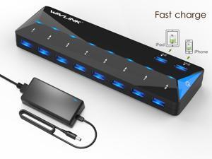 Deals on Wavlink 10-Port USB 3.0 Hub w/2x1.5A Fast USB Charging Port