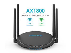 Wavlink AX1800 Wi-Fi 6 Router Dual Band Gigabit Wireless Router, 802.11ax, Easy Mesh WiFi Support, QoS and Parental Control, 4 Gigabit LAN ports, USB 3.0, MU-MIMO, OFDMA, IPV6, VPN, Beamforming