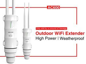 Wavlink AC600 High Power Outdoor Weatherproof Dual Band Wifi Repeater/ Range Extender / Access Point / Router / WISP 2.4GHz 150Mbps + 5GHz 433Mbps Up to 1000mW 28dBm Omnidirectional Antenna With POE