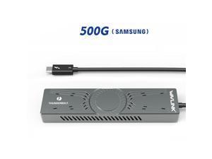 Wavlink Thunderbolt 3 to NVMe SSD Enclosure / External Solid Disk Drive,Including Samsung 960 EVO 500G - NVMe PCIe M.2 SSD, 500G Portable Solid State Disk, Thunderbolt 3 & PCIe NVMe