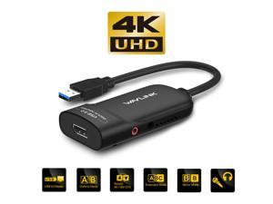Wavlink USB 3.0 to DisplayPort  Adapter Support 4K Resolution UHD Ultra-High-Definition External Video Adapter Video Graphics Adapter for Multiple Monitors up to 3840x2160 Supports Windows 10/8/8.1/7
