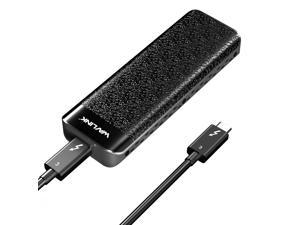 Wavlink WL-UTE02 Type-C Thunderbolt 3 to NVMe SSD Enclosure, Thunderbolt 3 NVME External SSD, Heat Sink Integrated, 0.5m Thunderbolt 3 Pigtail Cable, Thunderbolt 3 Super Speed, Plug and Play