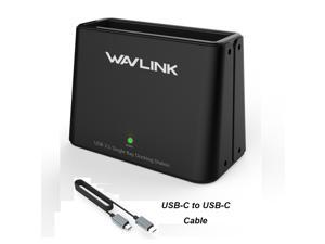 """Wavlink USB-C to SATA 2.5"""" 3.5"""" HDD / SSD Hard drive Docking Station- 8TB Capacity 5Gbps Transfer Rates USB 3.1( Type C ) Interface + USB-C Cable Plug and Play External Hard Disk Enclosure - Black"""