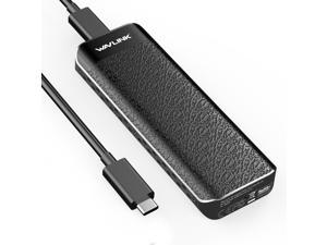 Wavlink USB C to M.2 NVMe SSD Tool-Free Enclosure With Heat Sink, USB 3.1 Gen 2 Super Speeds 10Gbps to NVMe PCI-E M-Key External SSD Case Applicable to Size 2230/2242/ 2260/2280