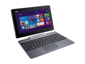 """ASUS T100TAM Detachable 2-in-1 Touch Laptop with Dock / 10.1"""" IPS Touchscreen / Intel Z3775 Quad Core / 2GB RAM / 64GB SSD / Bluetooth / WiFi / Webcam / Office 365 / Windows 8.1 / Gray Metal"""
