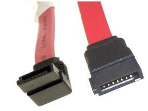 14in Red SATA Device Cable Straight to Left Angle