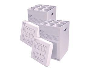 """AOS Corrugated Cardboard Rolling Storage File Manager 25-9-2PK Stores Rolled Items Up to 24"""" in Length"""