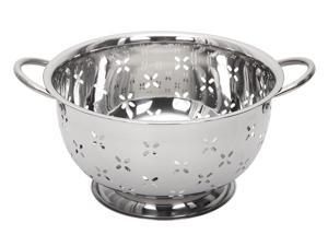 Lindy's 5 Qt Home Stainless Steel Colander with Handles for Straining, Steaming, Draining and Rinsing