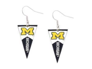 NCAA Michigan Wolverines Pennant Dangle Earring Set
