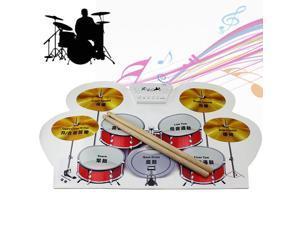 KONIX USB MIDI Drum Kit PC Desktop Silicone Roll Up Drum MD1008