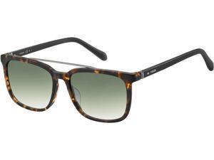 Fossil Men's Matte Havana Square Brow Bar Sunglasses FOS2090S 0N9P 9K