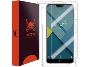 Nokia 7.1 Screen Protector + Full Body , Skinomi TechSkin Full Coverage Skin + Screen Protector for Nokia 7.1 Front & Back Clear HD Film