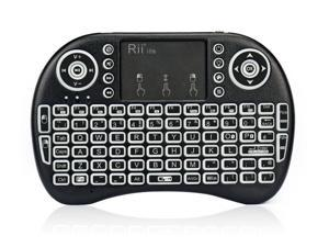 Rii i8s 2.4GHz Mini Wireless Keyboard with Touchpad Mouse, LED Backlit