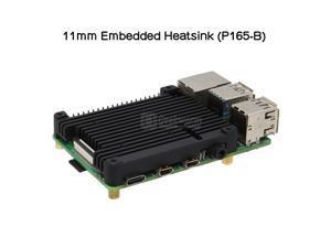 Geekworm Raspberry Pi 4 11mm Embedded Heatsink (P165-B), Raspberry Pi 4 Heatsink/Radiator Compatible with Raspberry Pi 4 Model B Computer and Pi 4 Expansion Board Support POE Extension