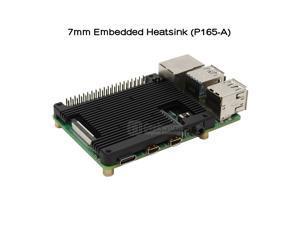 Geekworm Raspberry Pi 4 Embedded Heatsink(P165-A), Raspberry Pi 4B Embedded Armor Aluminum Alloy Heatsink Compatible with Raspberry Pi 4 Model B Computer Only