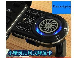 computer  USB Air Cooling Fan Mini Vacuum USB Air Laptop Cooling Fan Cooler for Notebook Laptop New Cooling Pads Notebook Stand