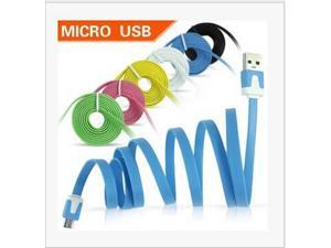 USB to Micro USB cable 100 CM noodles USB PC data cable V8 I4 5 charging cable for Samsung Android cell phone Apple millet
