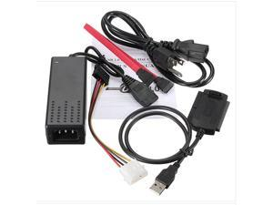 """USB 2.0 to IDE SATA 2.5 3.5 HD HDD Hard Drive Adapter Converter Cable USA Type USB2.0 to SATA IDE electric cable ATA Converter for Hard Drive2.5""""3.5""""HDD CA TS"""
